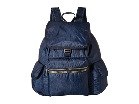 LeSportsac - Modern Voyager Backpack (True Navy Denim) Backpack Bags