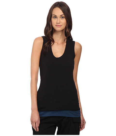 adidas Y-3 by Yohji Yamamoto - Reversible Tank Top (Black/Sub Blue) Women