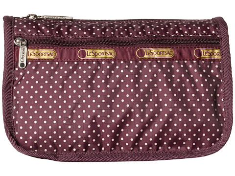 LeSportsac - Travel Cosmetic (Burgundy Pin Dot) Cosmetic Case