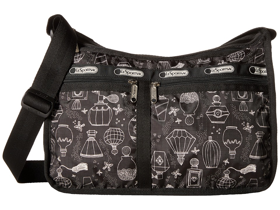 LeSportsac - Deluxe Everyday Bag (Sweet Essence Black) Cross Body Handbags