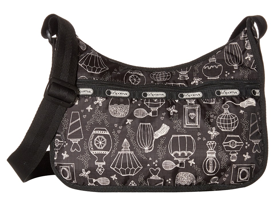 LeSportsac - Classic Hobo Bag (Sweet Essence Black) Cross Body Handbags
