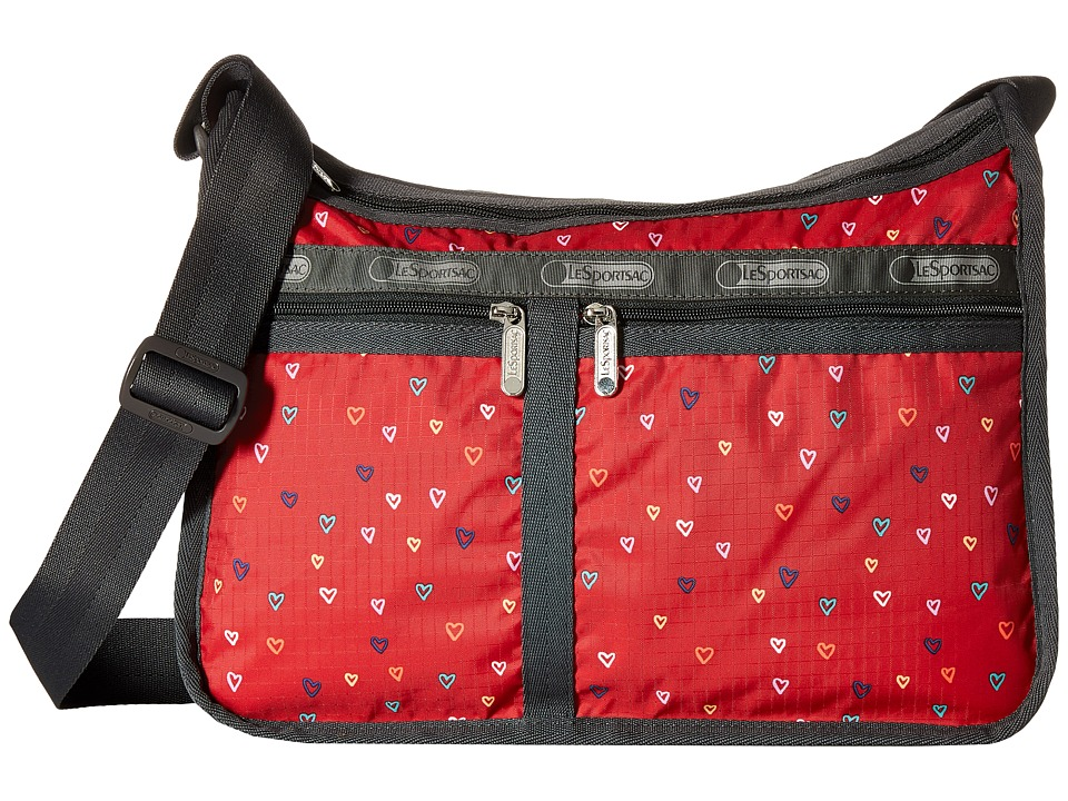 LeSportsac - Deluxe Everyday Bag (Love Drops Red) Cross Body Handbags