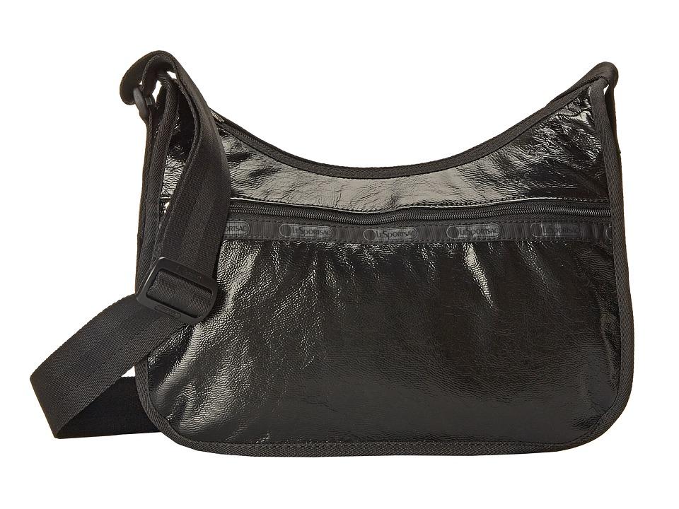 LeSportsac - Classic Hobo (Black Crinkle Patent) Hobo Handbags