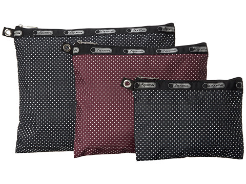 LeSportsac Luggage - 3 Piece Travel Set (Jet Set Pin Dot Multi) Travel Pouch