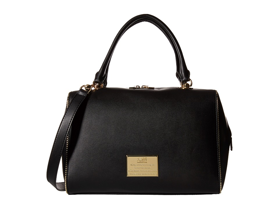 LOVE Moschino - Front Plaque Bowler Bag (Black) Bags