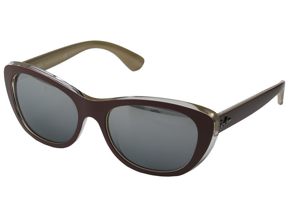 Ray-Ban - RB4227 55mm (Top Dark Brown on Orca) Fashion Sunglasses