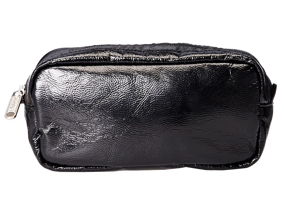 LeSportsac - Kevyn (Black Crinkle Patent) Cosmetic Case