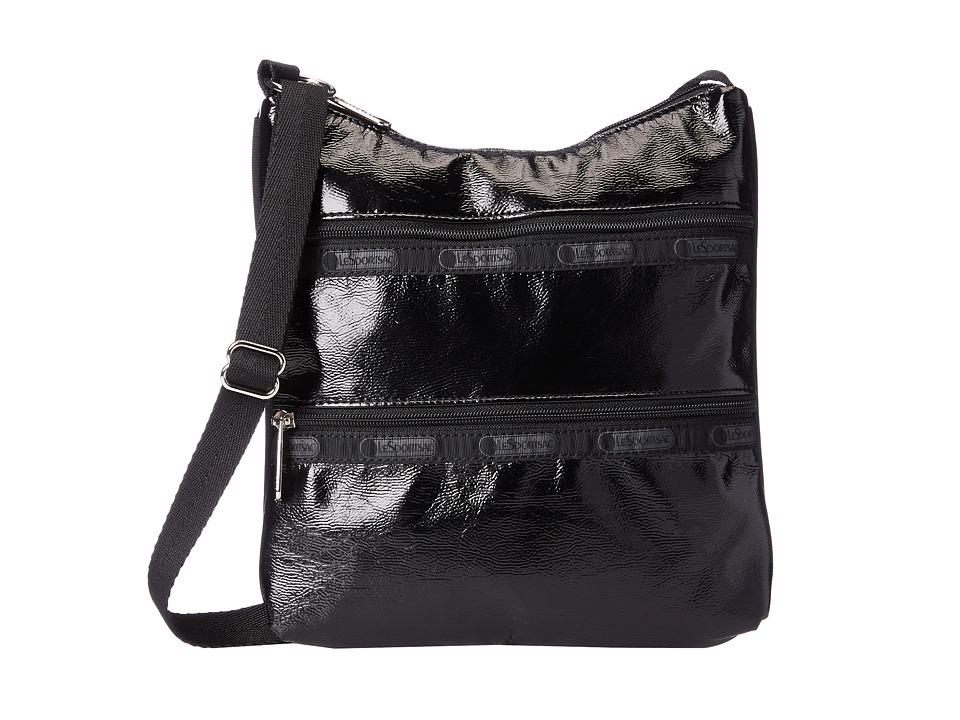 LeSportsac - Kylie (Black Crinkle Patent) Handbags
