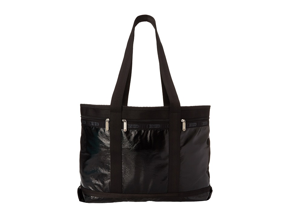 LeSportsac Luggage - Travel Tote (Black Crinkle Patent) Bags