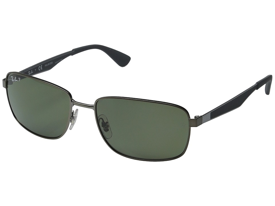 Ray-Ban - RB4228 58mm (Matte Gunmetal/Dark Green Polarized) Fashion Sunglasses
