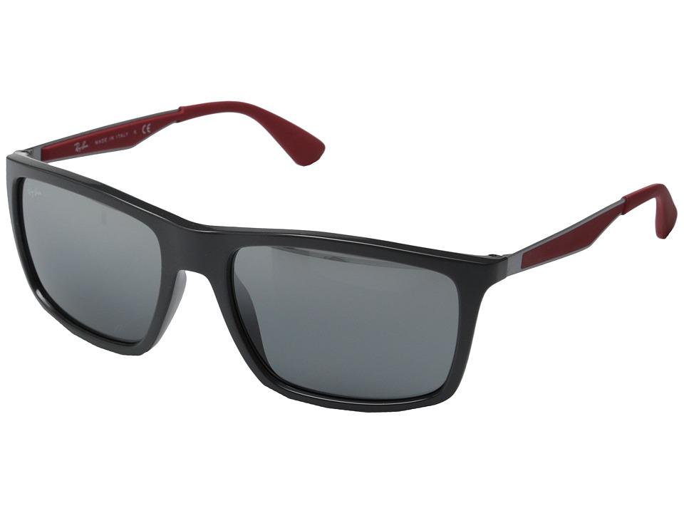Ray-Ban - RB4228 58mm (Red Rubber/Grey Mirror Silver Gradient) Fashion Sunglasses