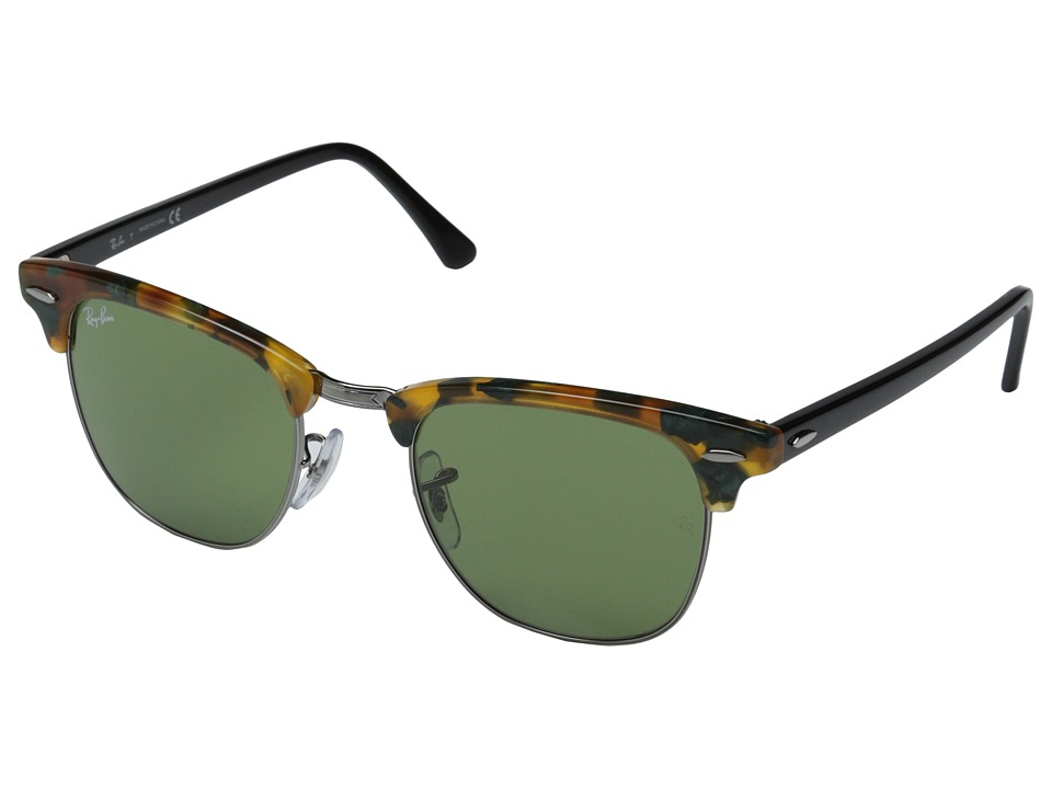 Ray-Ban - Clubmaster 49mm (Havana Spotted Green) Fashion Sunglasses