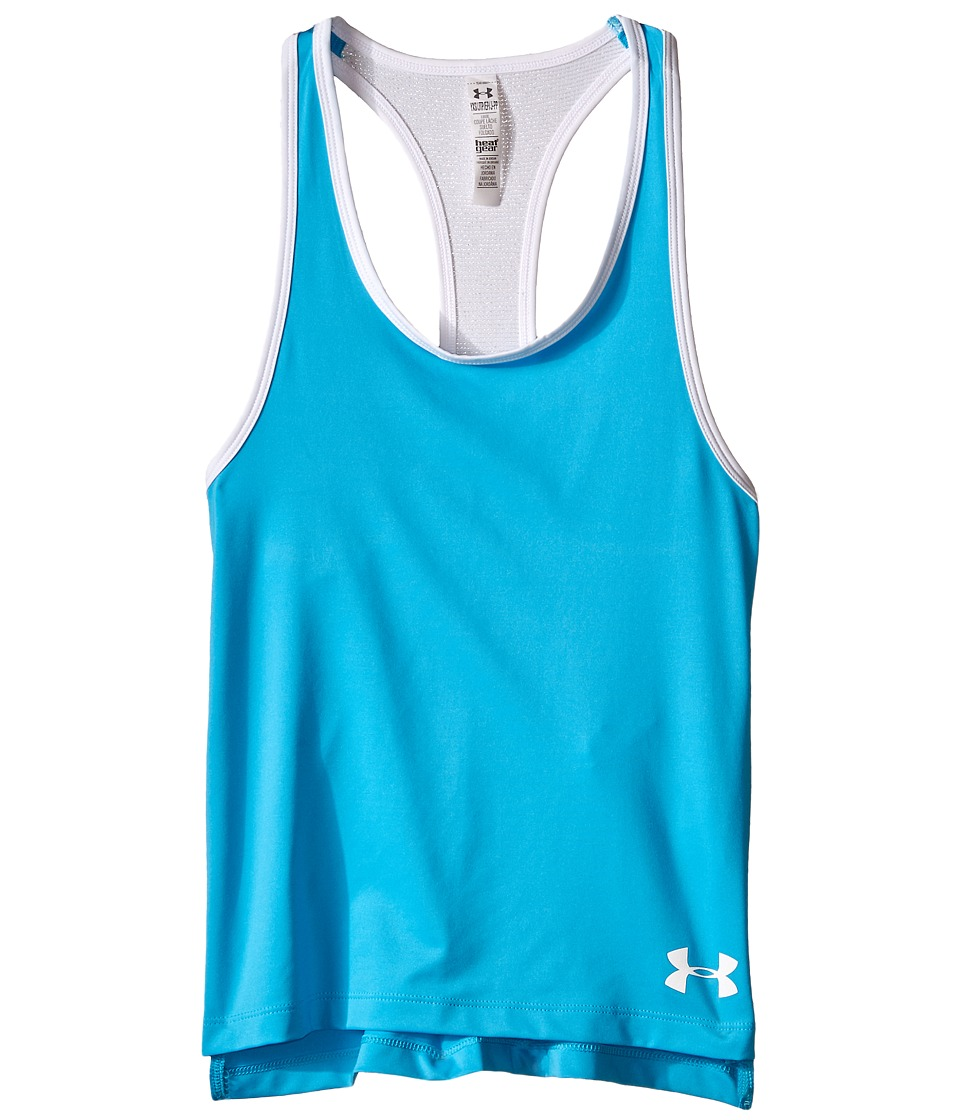 Under Armour Kids - HeatGear(r) Alpha Tank (Big Kids) (Meridian Blue/After Burn) Girl's Sleeveless