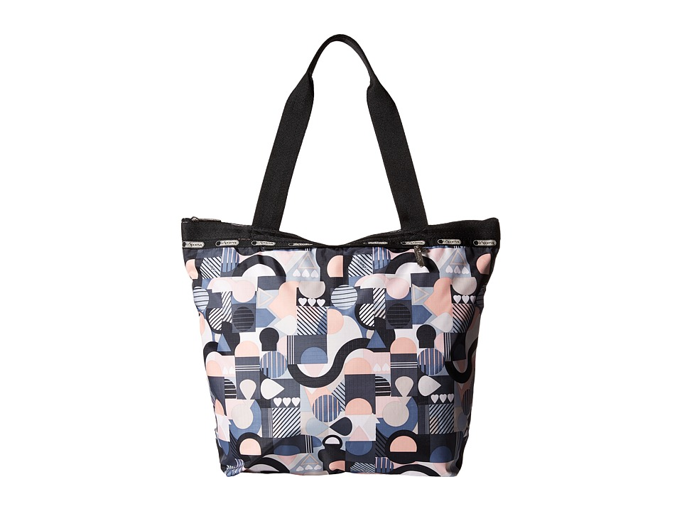 LeSportsac - Deluxe Hailey Tote (Cubist Deluxe) Tote Handbags