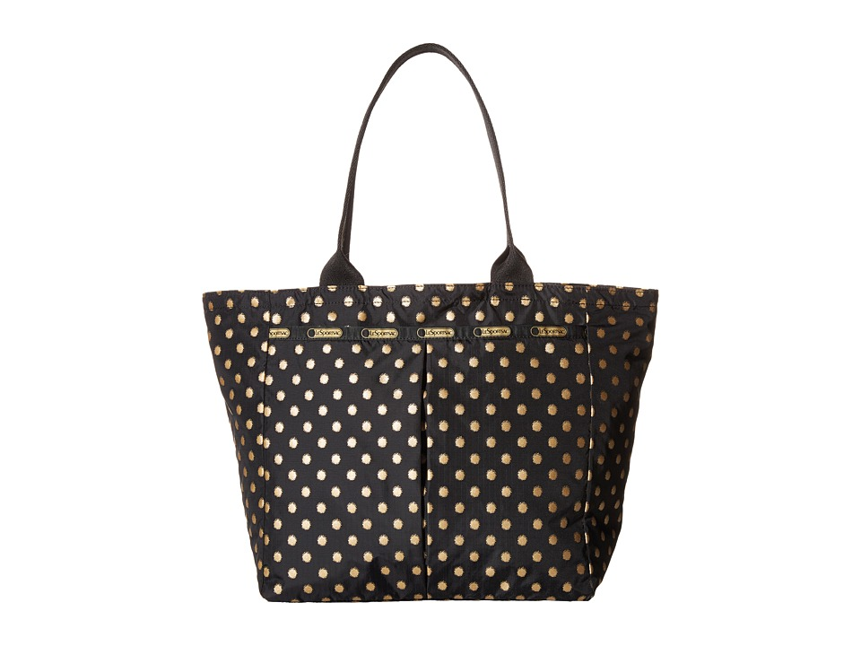 LeSportsac - Everygirl Tote (Black/Gold Foil) Tote Handbags
