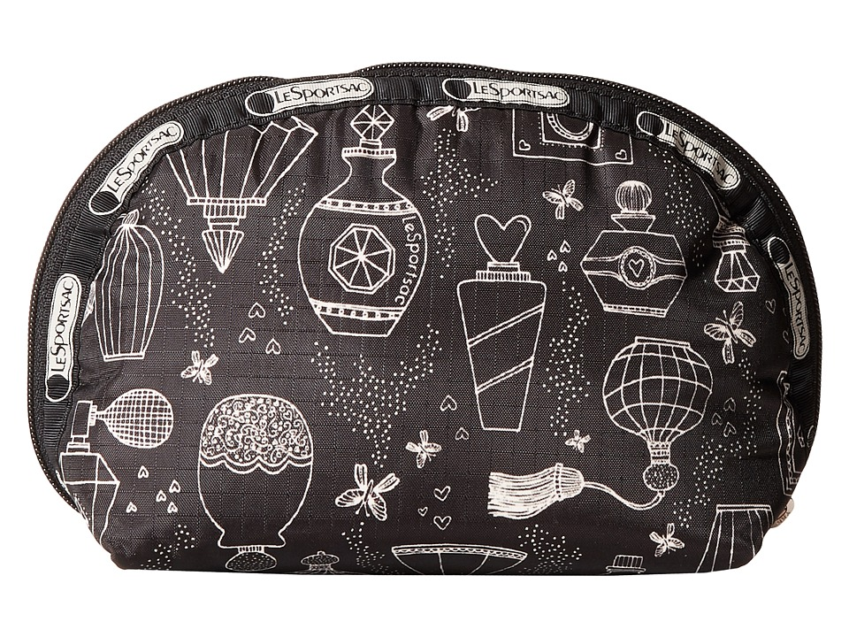 LeSportsac - Medium Dome Cosmetic (Sweet Essence Black) Cosmetic Case