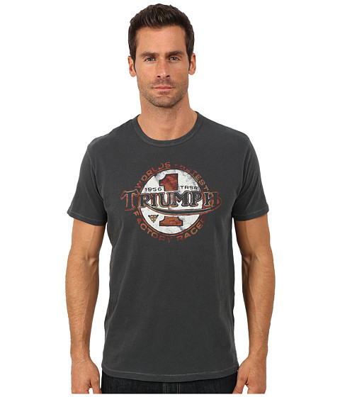 Lucky Brand - Triumph Worlds Fastest Graphic Tee (Moonless Night) Men