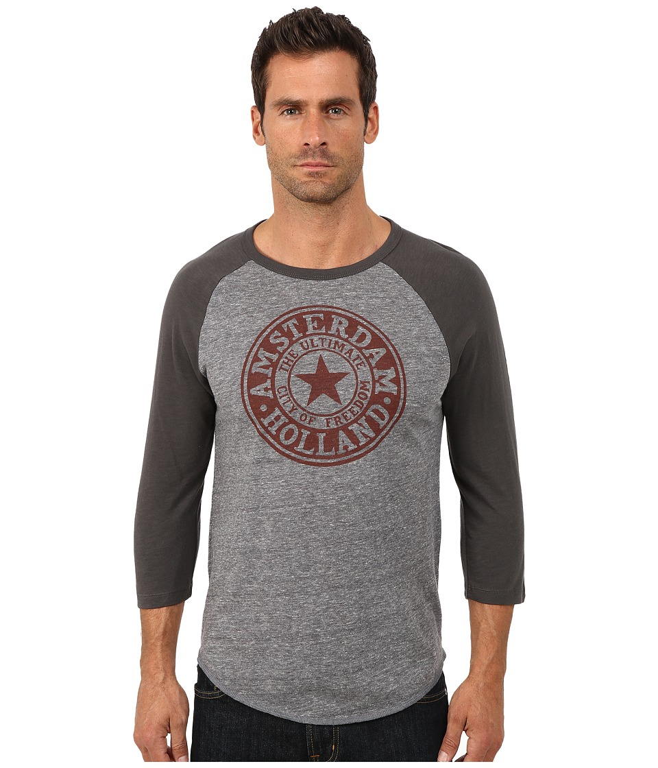 Lucky Brand - Amsterdam Seal Baseball Tee (Multi) Men's T Shirt