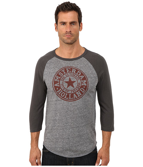 Lucky Brand - Amsterdam Seal Baseball Tee (Multi) Men