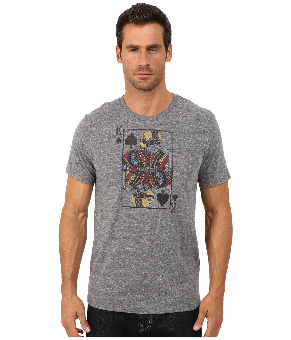 Lucky Brand - Moto King Of Spades Graphic Tee (Grey) Men's T Shirt