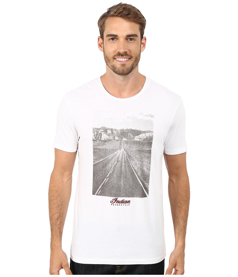 Lucky Brand - Open Road Indian Photo Graphic Tee (Bright White) Men's T Shirt