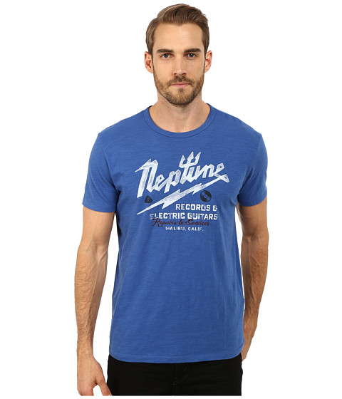 Lucky Brand - Neptune Records Graphic Tee (Cobalt) Men's T Shirt
