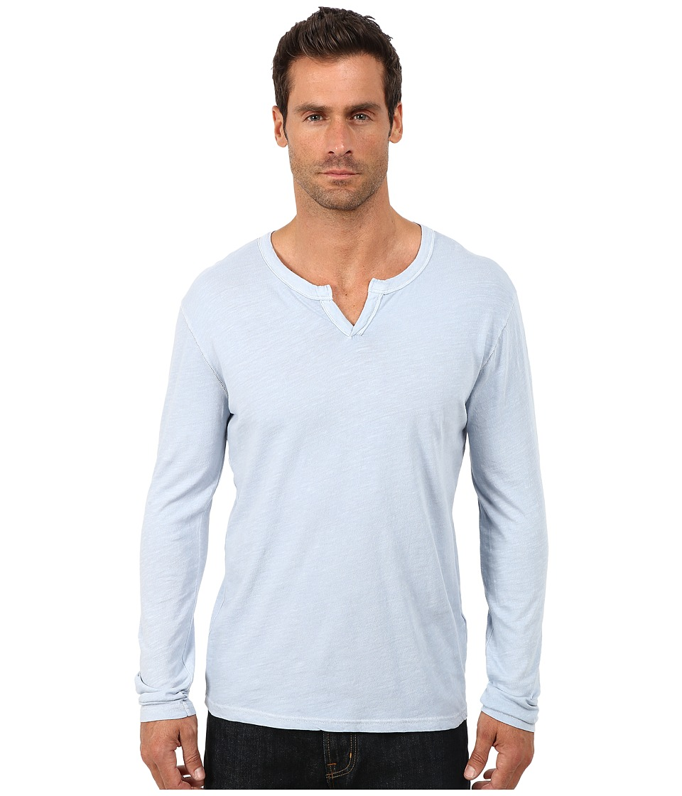 Lucky Brand - Long Sleeve Notch Neck Tee (Dusty Blue) Men's T Shirt