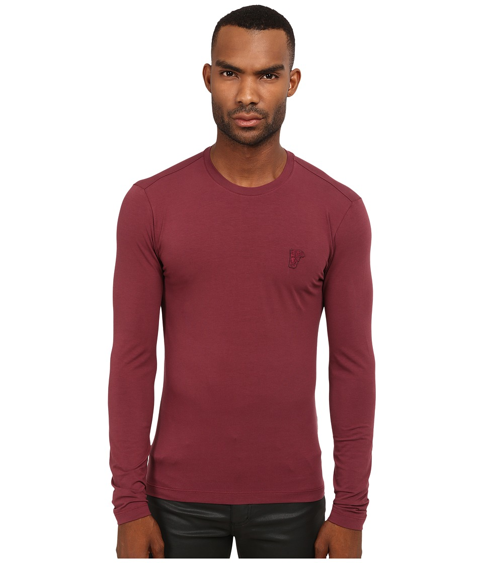 Versace Collection - Basic Long Sleeve T-Shirt (Red) Men's T Shirt