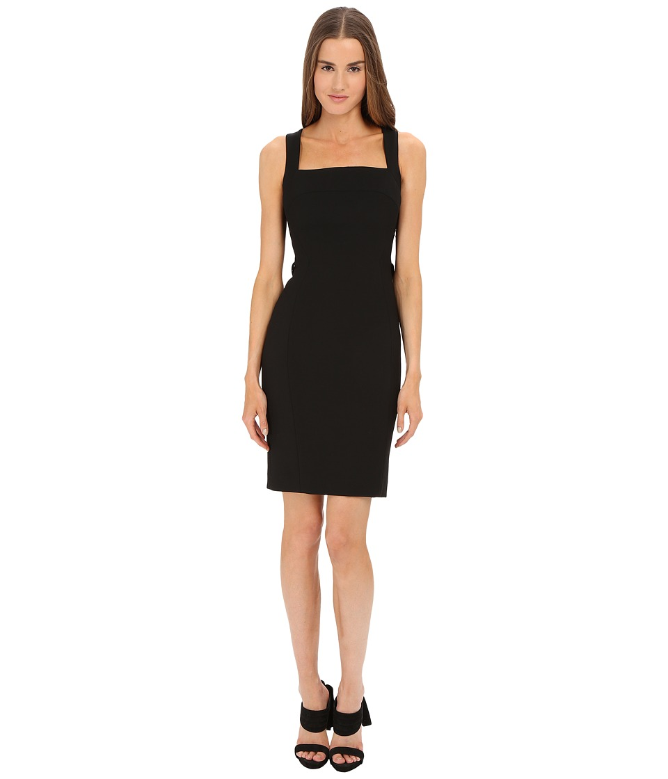 Versace Collection - Dress w/ Back Fringe Detail (Black) Women's Dress