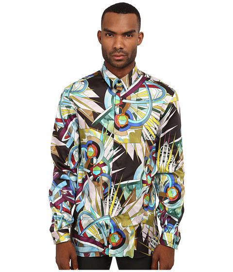 Versace Collection - Stretch Cotton All Over Geometric Print Woven (Multi) Men