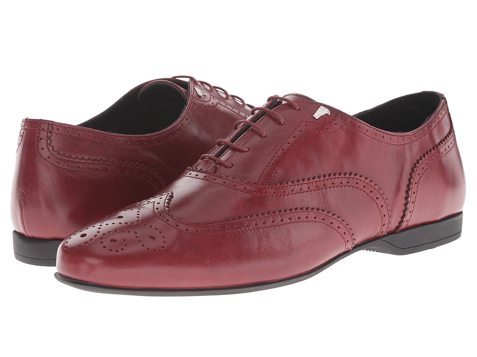 Versace Collection - Lace Up Dress Shoe w/ Stitch Detail (Bordeaux) Men's Lace up casual Shoes