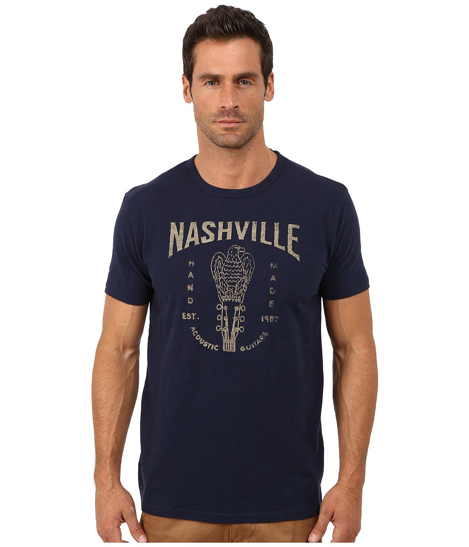 Lucky Brand - Nashville Guitars Graphic Tee (American Navy) Men's T Shirt