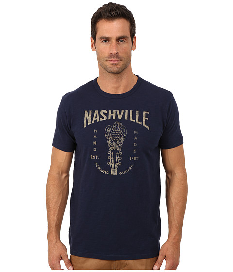Lucky Brand - Nashville Guitars Graphic Tee (American Navy) Men
