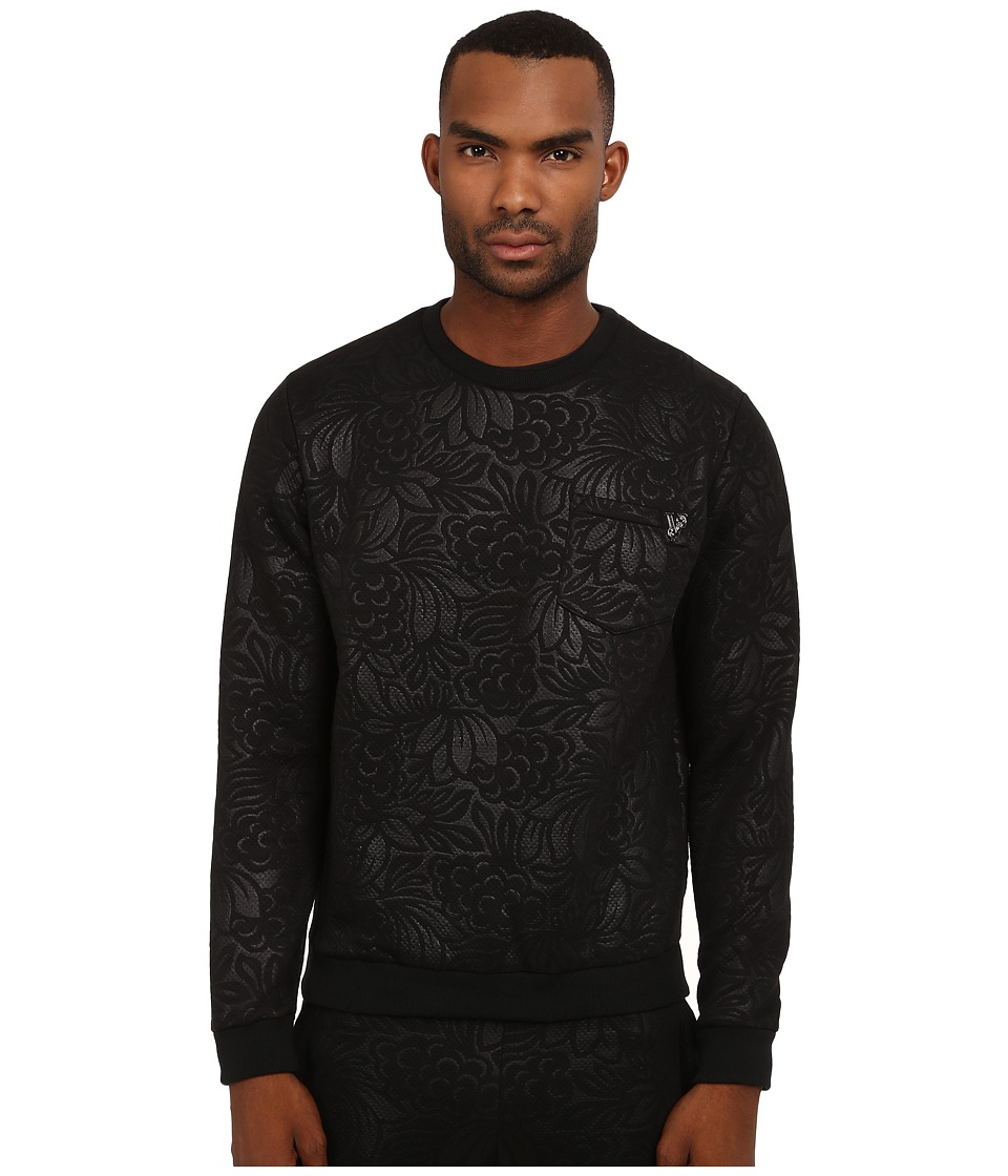 Versace Jeans - Printed Crew Neck Sweatshirt (Black) Men's Sweatshirt
