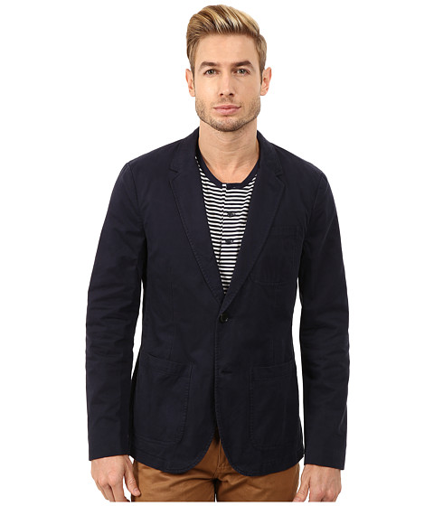 Lucky Brand - Garment Dye Blazer (Navy) Men