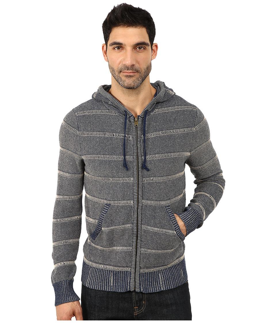 Lucky Brand - Indigo Ocean Hoodie (Indigo) Men's Sweatshirt