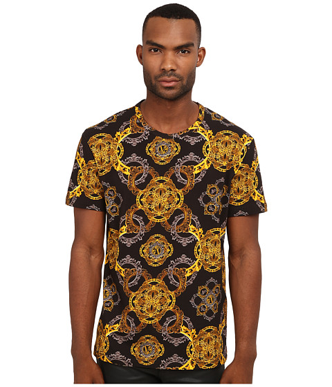 Versace Jeans - All Over Printed T-Shirt (Black) Men's T Shirt