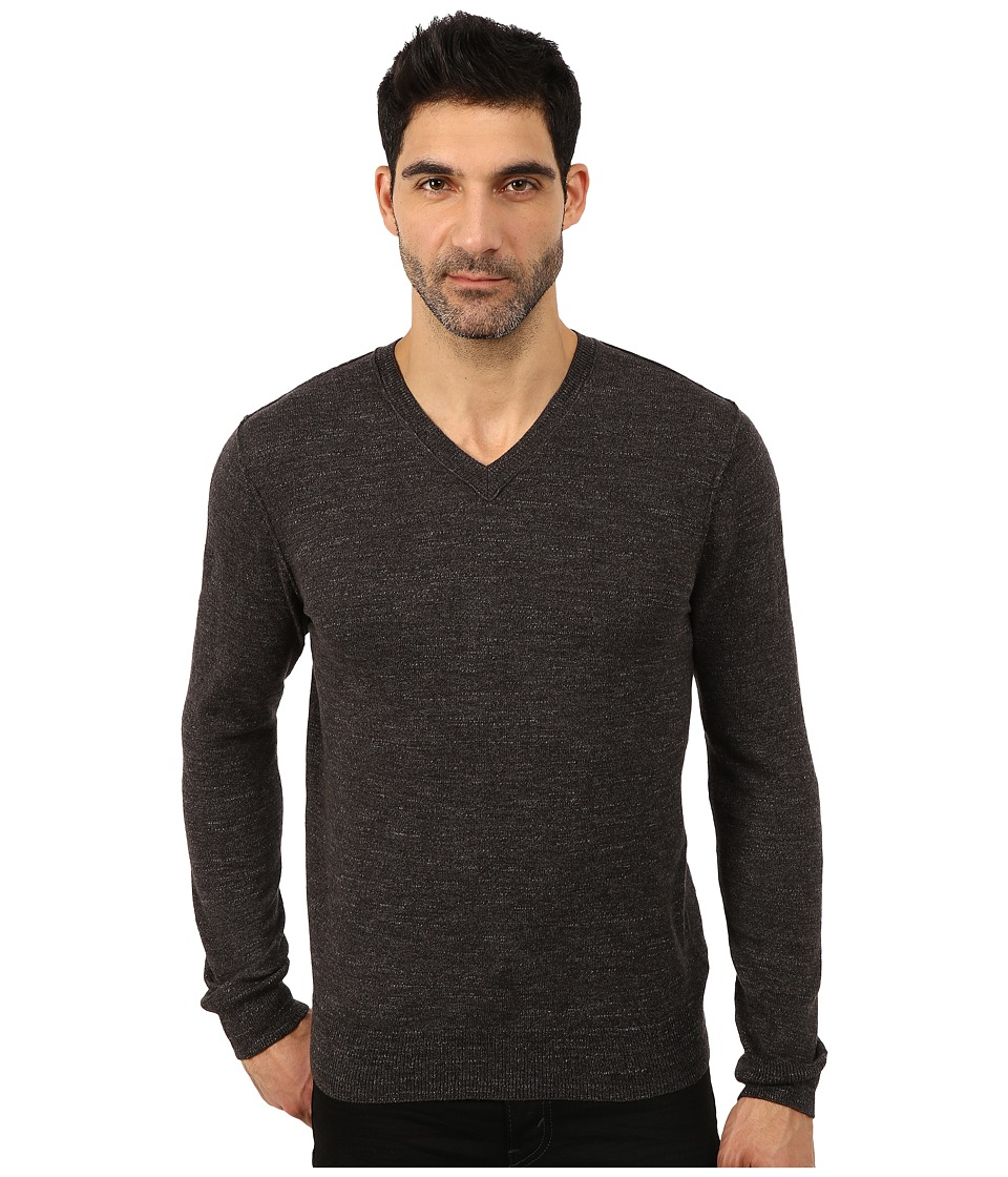 Lucky Brand - White Label V-Neck Sweater (Charcoal) Men's Sweater