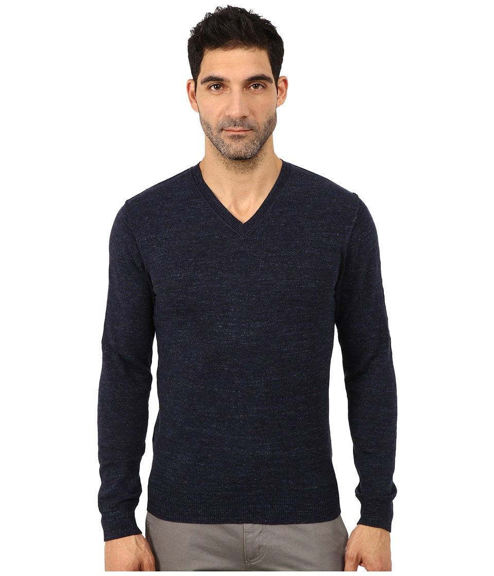 Lucky Brand - White Label V-Neck Sweater (Navy) Men