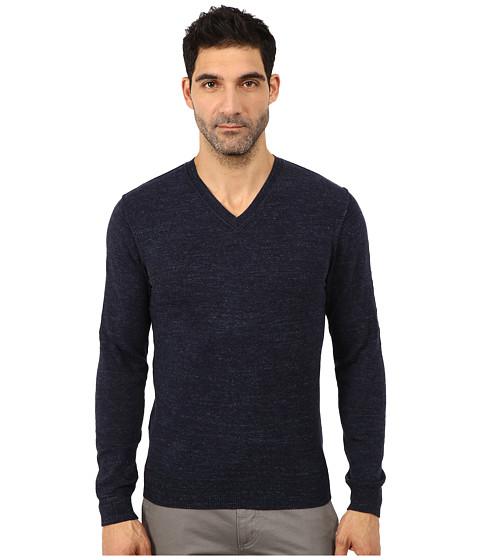 Lucky Brand - White Label V-Neck Sweater (Navy) Men's Sweater