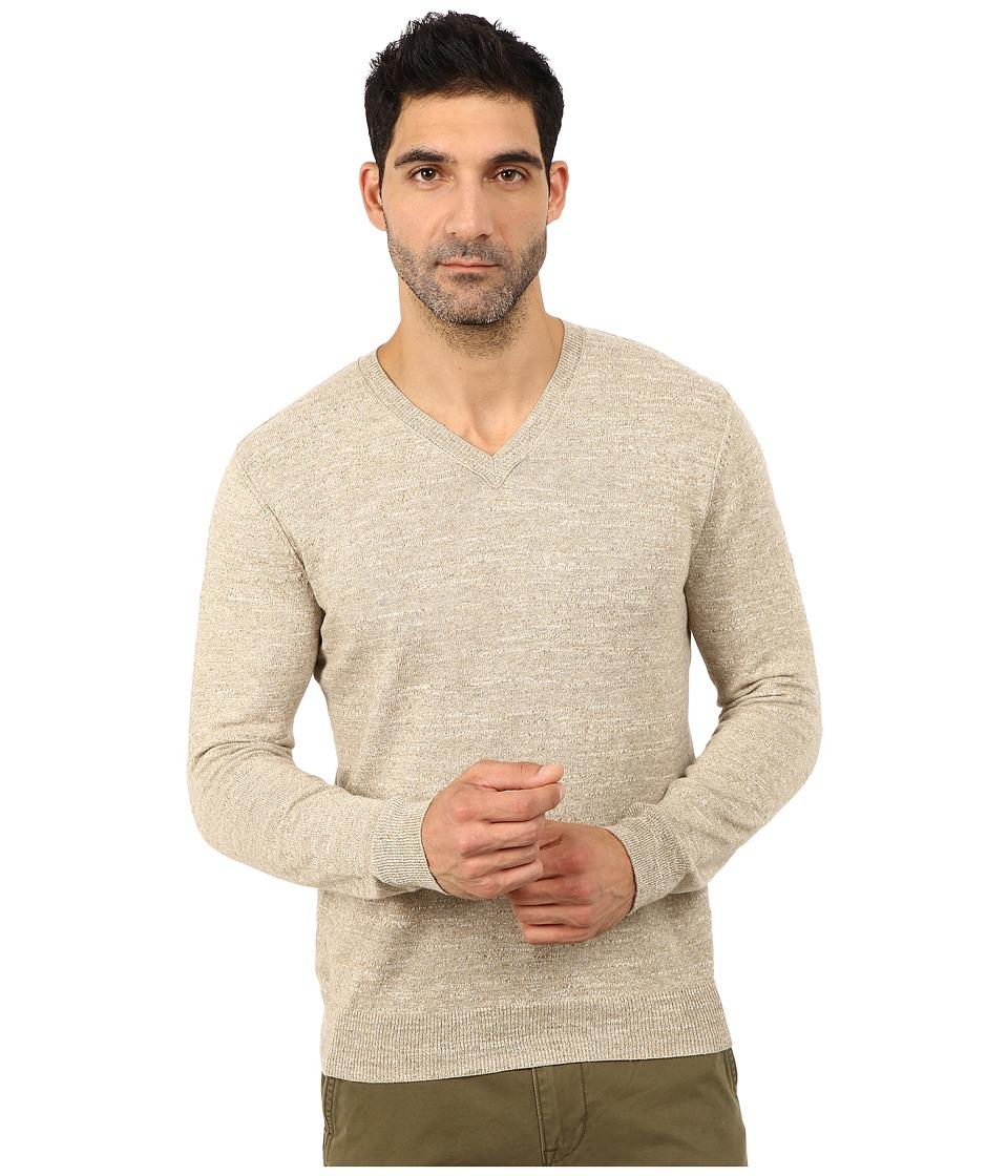 Lucky Brand - White Label V-Neck Sweater (Oatmeal) Men