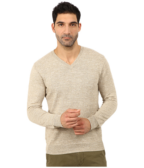 Lucky Brand - White Label V-Neck Sweater (Oatmeal) Men's Sweater