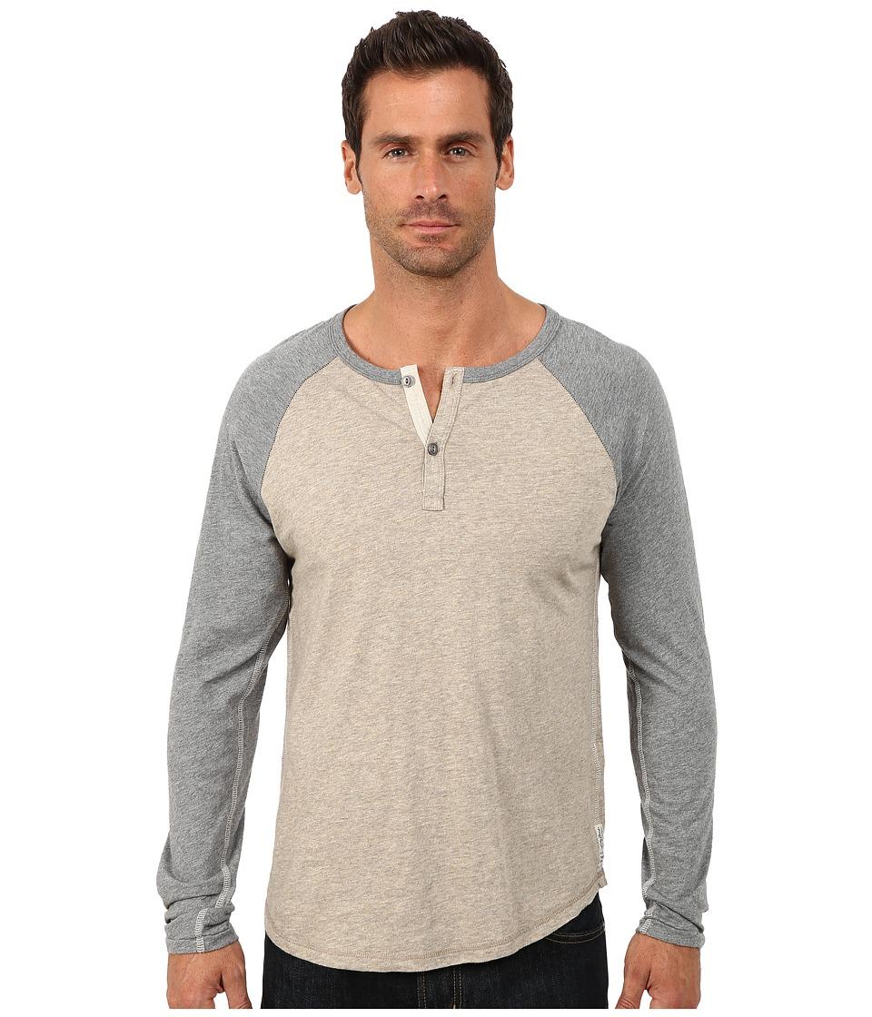 Lucky Brand - Long Sleeve Raglan Henley (Oat Multi) Men