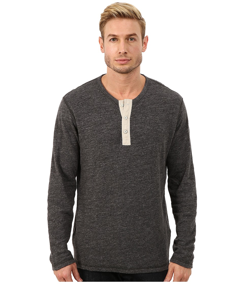 Lucky Brand - Duofold Henley (Charcoal) Men's Clothing