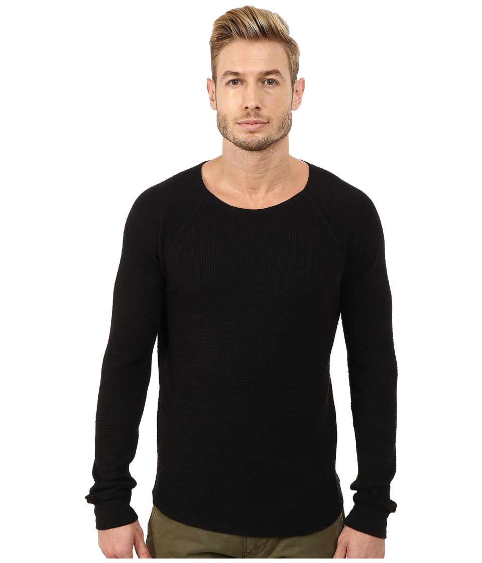 Lucky Brand - Long Sleeve Thermal (Jet Black) Men's Clothing