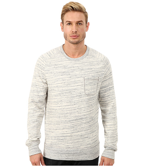 Lucky Brand - Space Dye Crew (Heather Grey) Men's Clothing