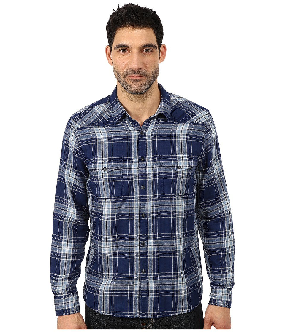 Lucky Brand - Big Sky Western Shirt (Blue Plaid) Men's Clothing