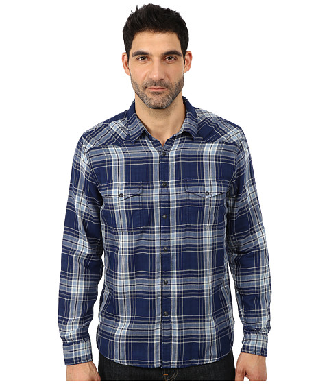 Lucky Brand - Big Sky Western Shirt (Blue Plaid) Men