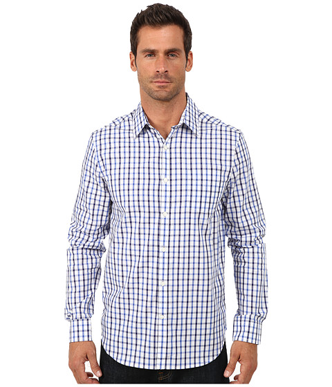 Lucky Brand - Palisades Plaid Shirt (Blue Plaid) Men