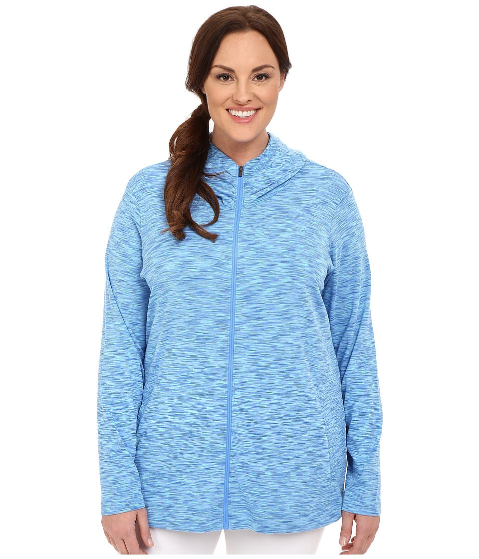 Columbia - Plus Size OuterSpaced Full Zip Hoodie (Stormy Blue) Women's Sweatshirt